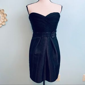 BCBGMAXAZRIA Little Black Strapless Dress
